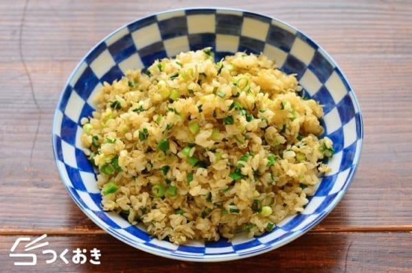 天ぷらと一緒に付け合わせ!ジャコとネギの混ぜご飯