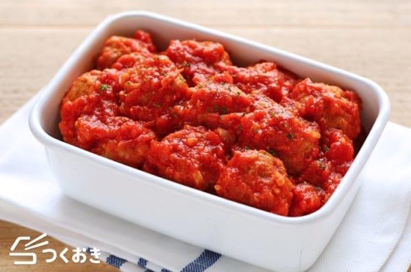 お弁当に入れたい!ミートボールのトマト煮込み