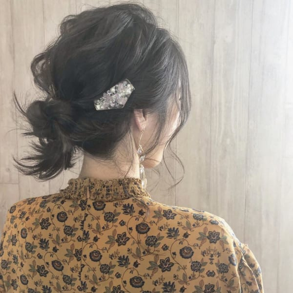 お花見におすすめの髪型《ミディアムヘアアレンジ》5