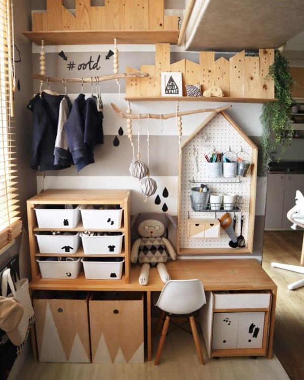 子ども部屋のおしゃれな整理収納アイディア2