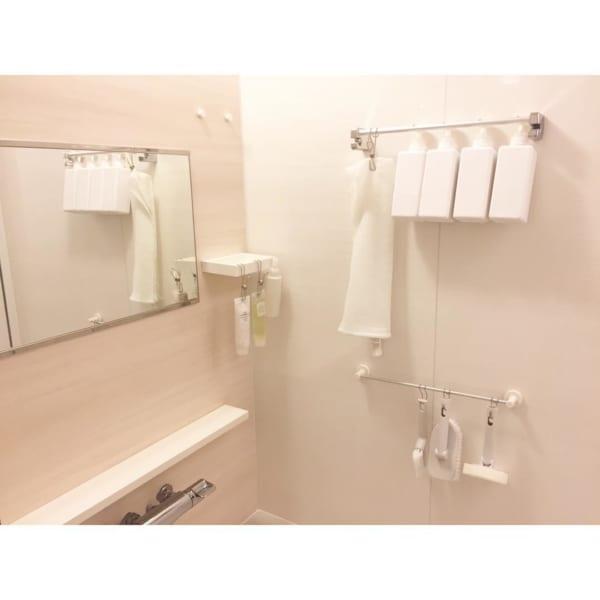 バスルームの収納に