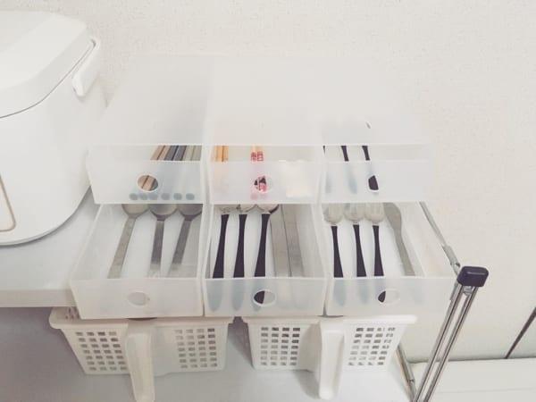 小物収納ボックス6段を使った収納実例