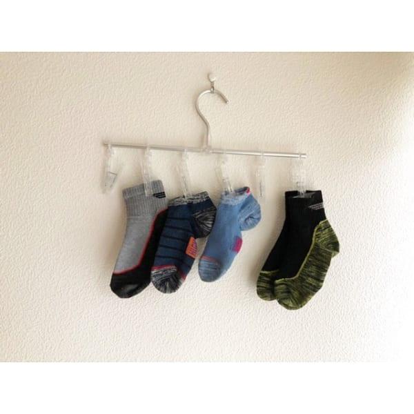 靴下収納にピンチハンガー