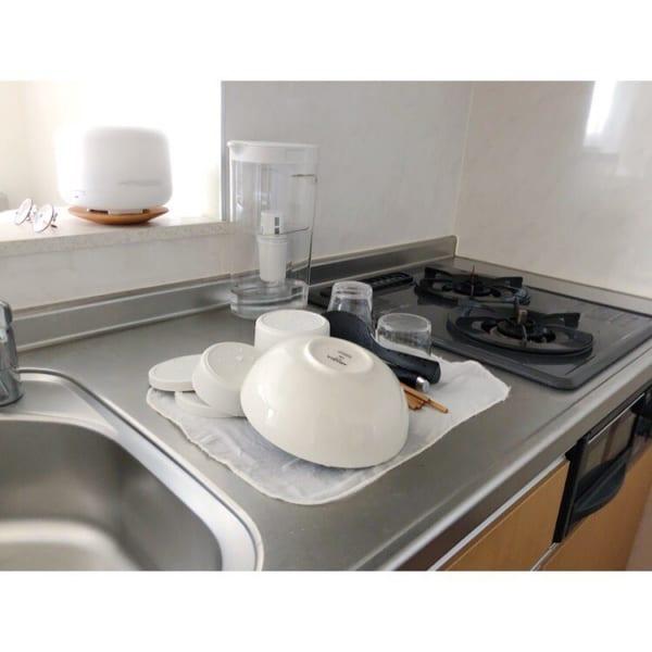 水切りかごを置かないキッチン