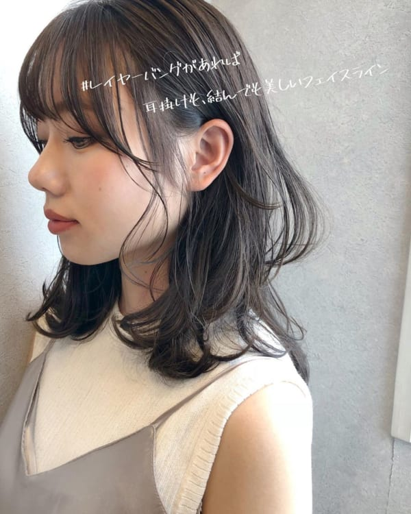 ミディアム×巻き髪×レイヤーバング