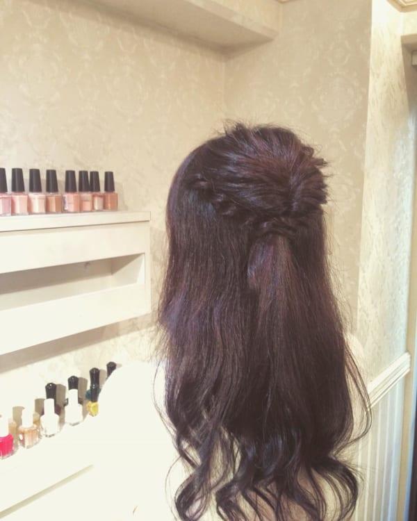 ママ向け!入園式の髪型《ロング×ハーフアップ》3