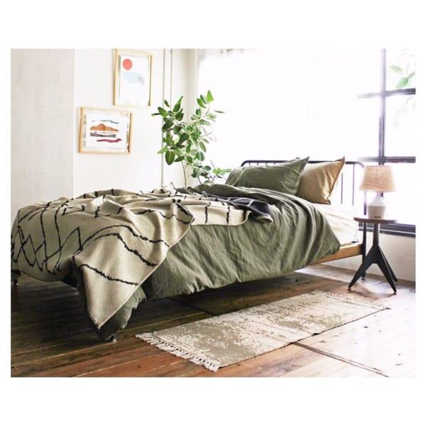ヴィンテージスタイルのアメリカンな寝室