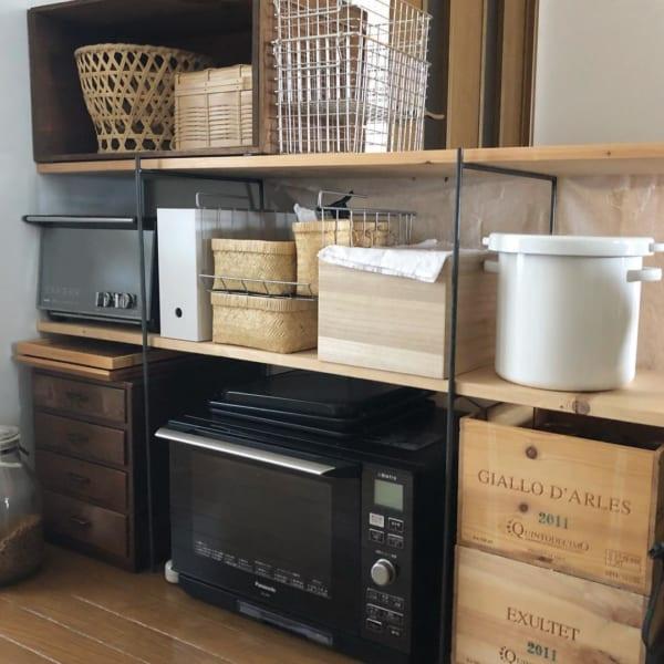 収まる場所に収めるキッチン