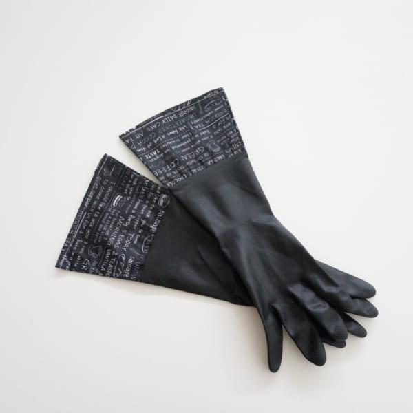 カフェ柄のゴム手袋(セリア)