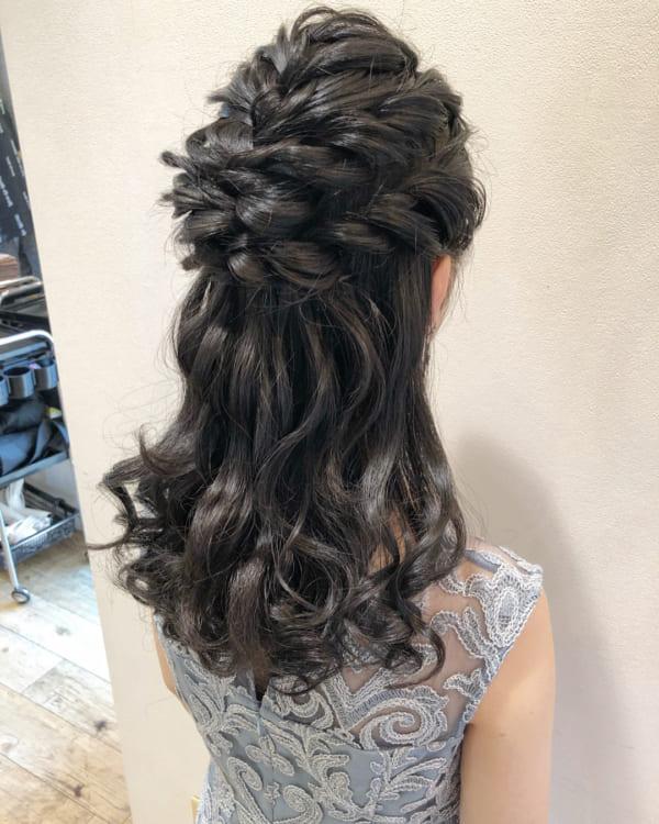 ママ向け!入園式の髪型《ロング×ハーフアップ》4