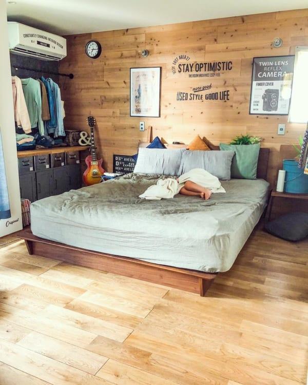 ブルックリンスタイルのアメリカンな寝室
