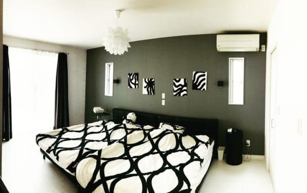 モノトーンのお部屋作り《寝室インテリア》4