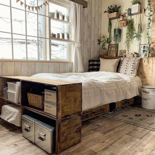 アメリカンカントリースタイルの寝室