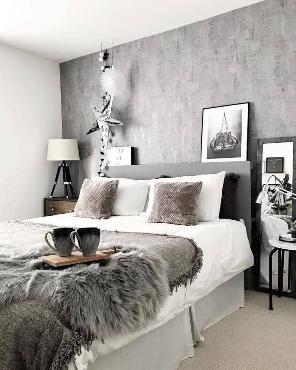グレー×ホテルライクが魅力的なお部屋