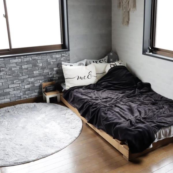 モノトーンのお部屋作り《寝室インテリア》6