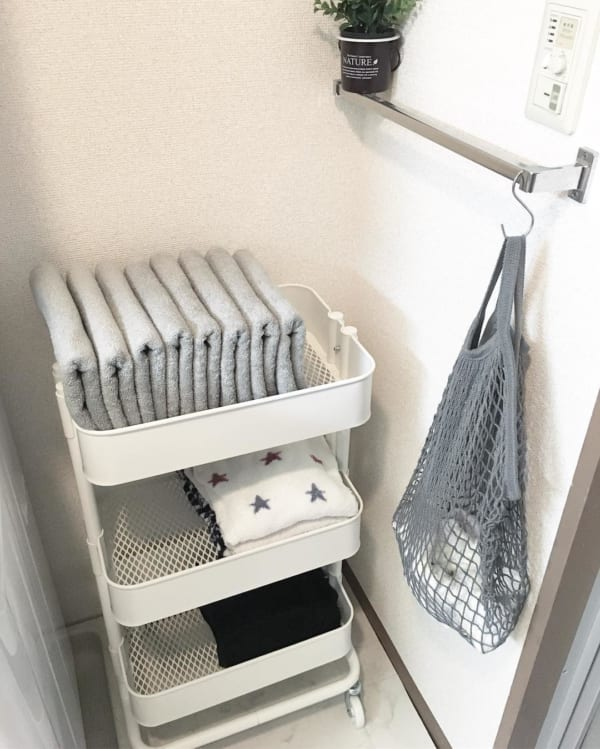 人気のRASKOGで洗面所のタオル収納