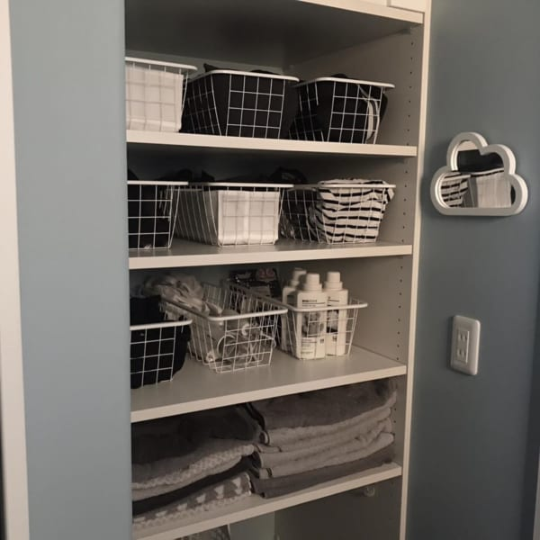 バスルームの収納アイデア19