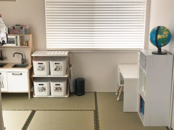縁付き畳でコーディネートした和室男の子部屋