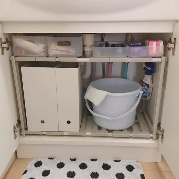 ニトリの洗面台下ラックを活用