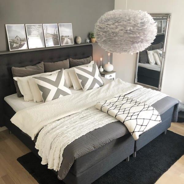 モノトーンのお部屋作り《寝室インテリア》8
