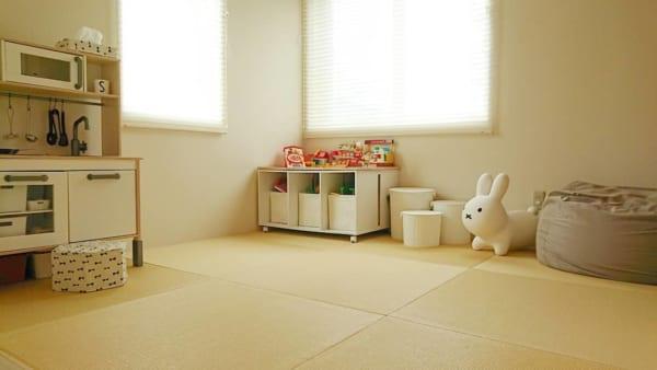 縁なし畳でコーディネートした和室男の子部屋