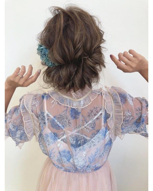 ママ向け!入園式の髪型《ロング×アップ》3