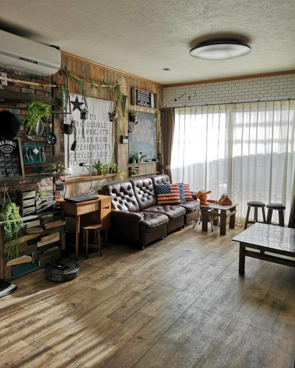 ヴィンテージスタイルのアメリカンな部屋