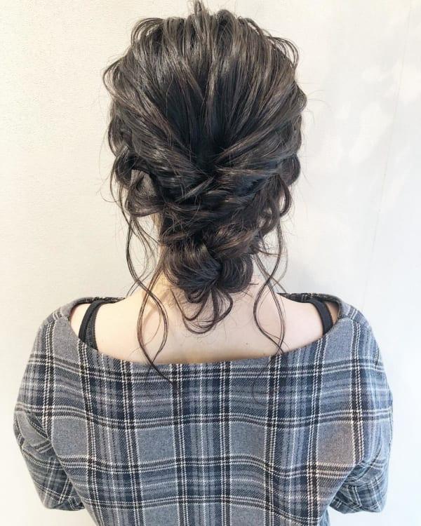 ママ向け!入園式の髪型《ロング×アップ》4