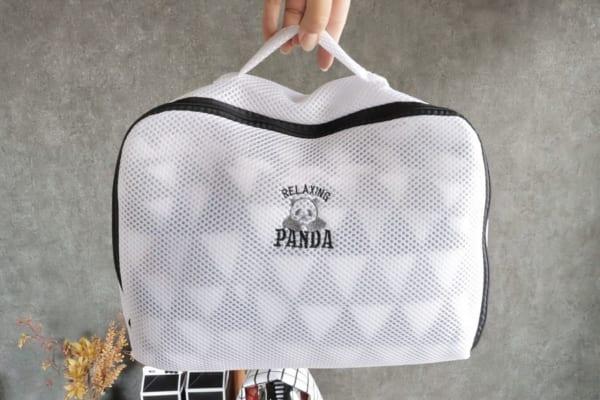 【ダイソー】パンダワンポイントの洗濯ネット