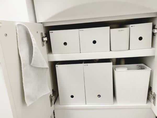 無印のファイルボックスを使った洗面台下収納