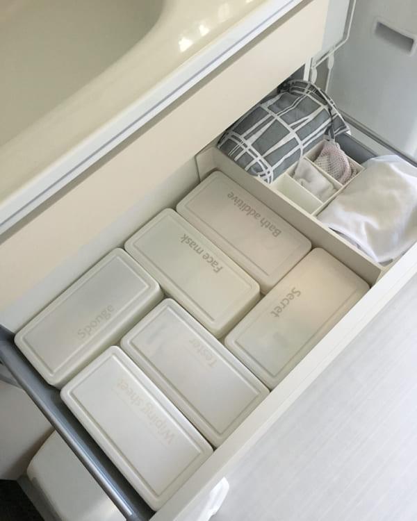 洗面所収納の整理整頓に