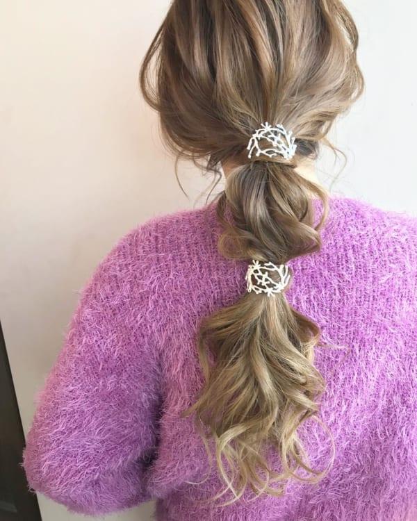 お花見におすすめの髪型《ロングヘアアレンジ》4