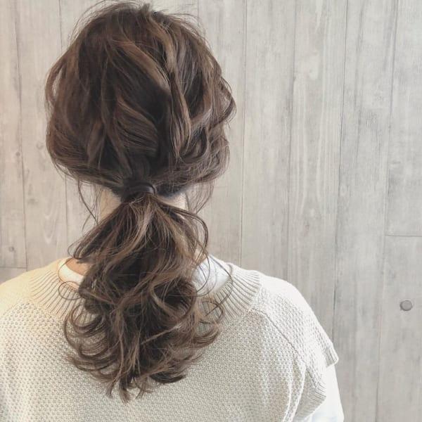 ママ向け!入園式の髪型《ロング×ポニーテール》3