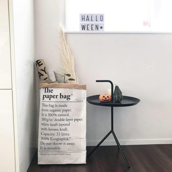 紙袋に入れて飾るアイデア