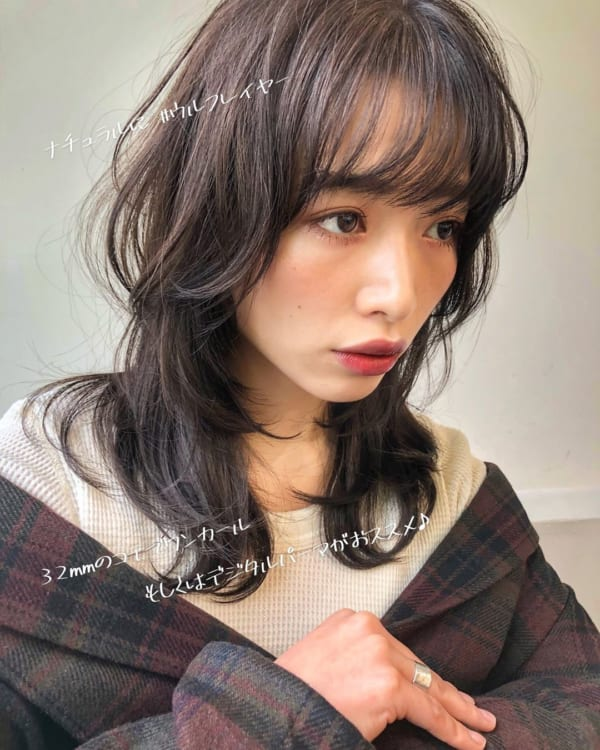 ミディアム×巻き髪×ワンカール