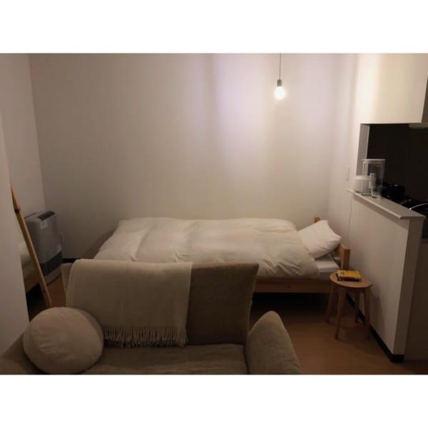 ベッド回りに余裕がある一人暮らし部屋