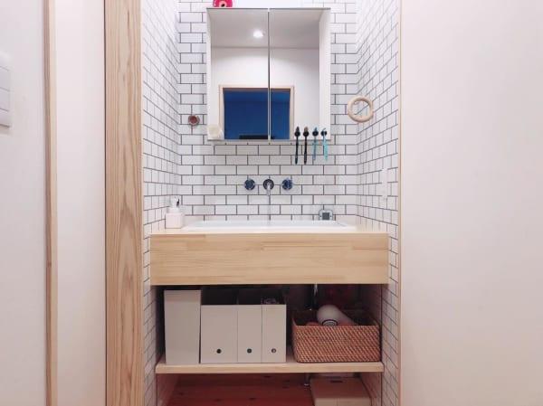 無印で作る洗面台下の見せる収納