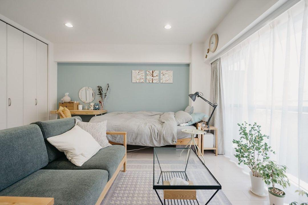 北欧モダンな一人暮らしの部屋