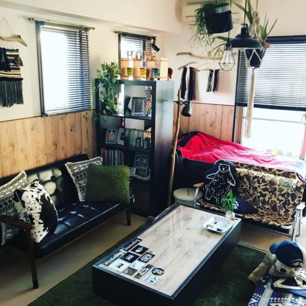 アメリカンで男前な一人暮らしの部屋