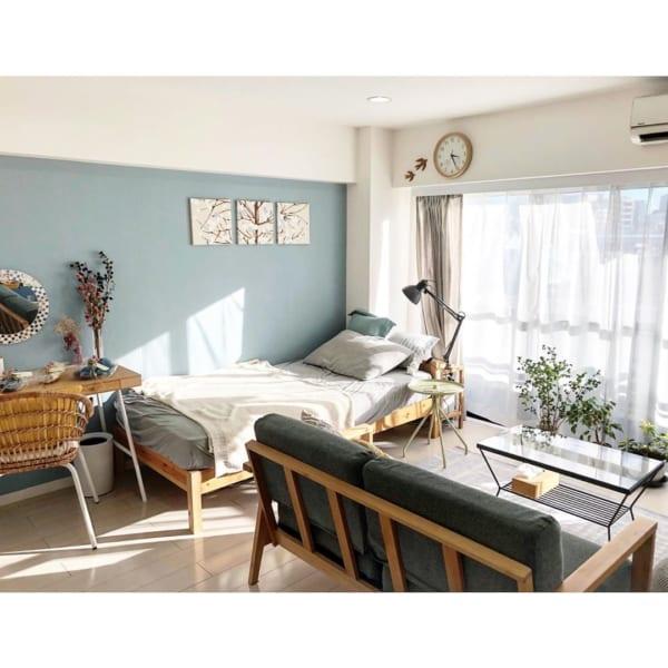 家具のボリューム感が絶妙な一人暮らし部屋