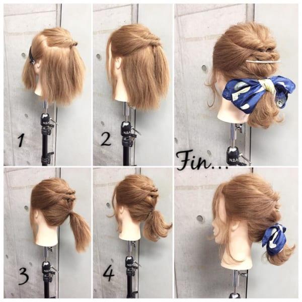 お花見におすすめの髪型《ボブヘアアレンジ》3