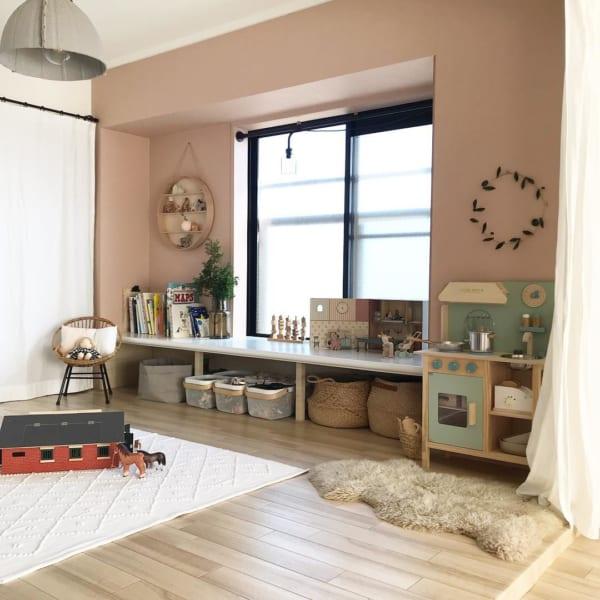 おしゃれな壁紙が愛らしい和室女の子部屋