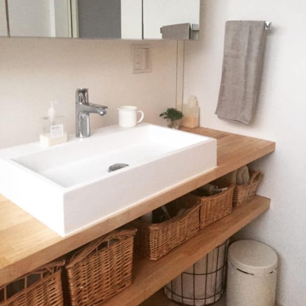 洗面所のおしゃれで便利な収納