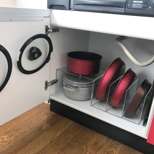 アクリル仕切り棚を使った収納アイデア
