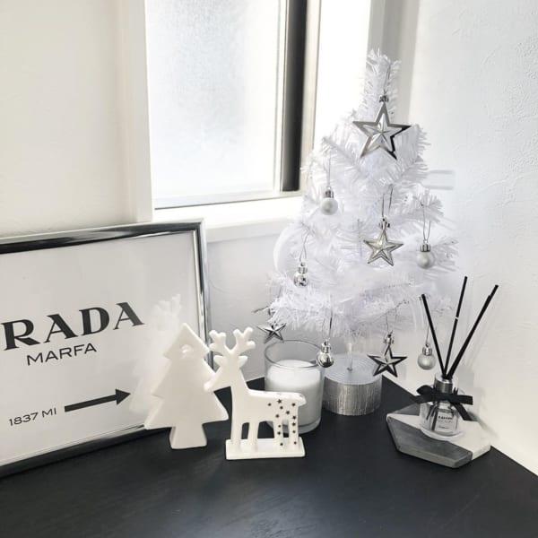 ダイソーのクリスマス雑貨④陶器製オブジェ
