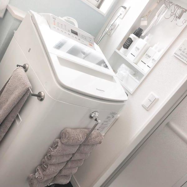 洗濯機を収納場所として使う