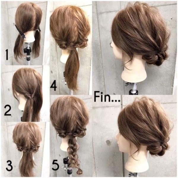 お花見におすすめの髪型《ロングヘアアレンジ》6