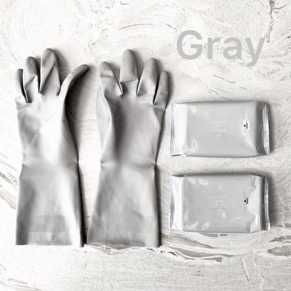 グレーのゴム手袋(セリア)