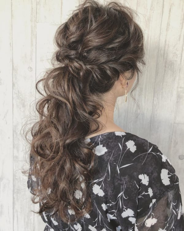 ママ向け!入園式の髪型《ロング×ポニーテール》