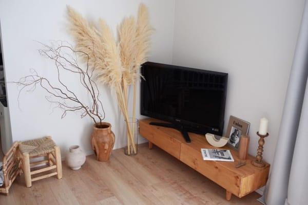 テレビ横に飾るアイデア